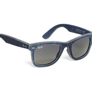 NWOT Denim Ray-Ban Wayfarer  Sunglasses